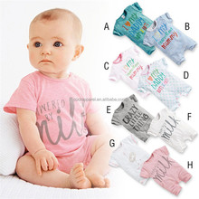 baby clothes summer wholesale bulk short sleeve baby clothes romper organic cotton