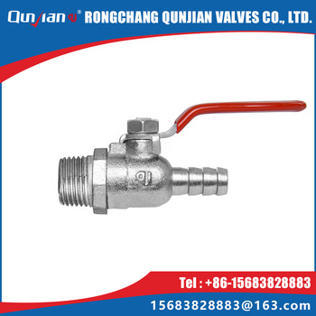 male thread and hose connector ball cock for gas and malleable cast iron gas valve with flat lever handle