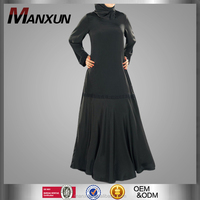 Latest Burqa Designs Pictures Simple Black Abaya Dubai Wholesale Market