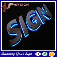Stainless steel outdoor sign waterproof backlit offer letter sample