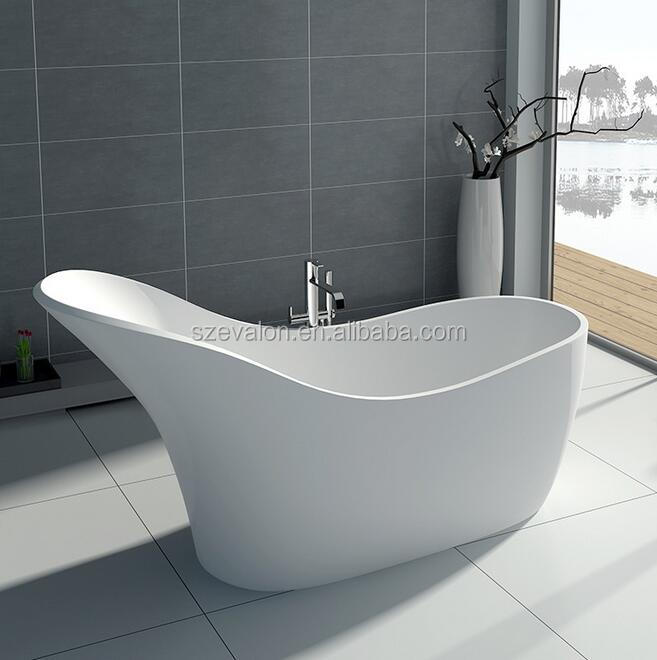 China 52 inch modern two person freestanding bathtub, artificial stone bathtub for Hotel