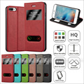 View Window magnetic leather cellphone cover for iphone 7plus,for iphone 7plus magnetic case