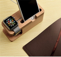Classic wooden crafts mobile phone holder use for apple watch stand/mobile phone