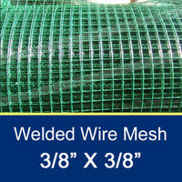 "3/8"" PVC Coated Welded Wire Mesh 25m/Roll"