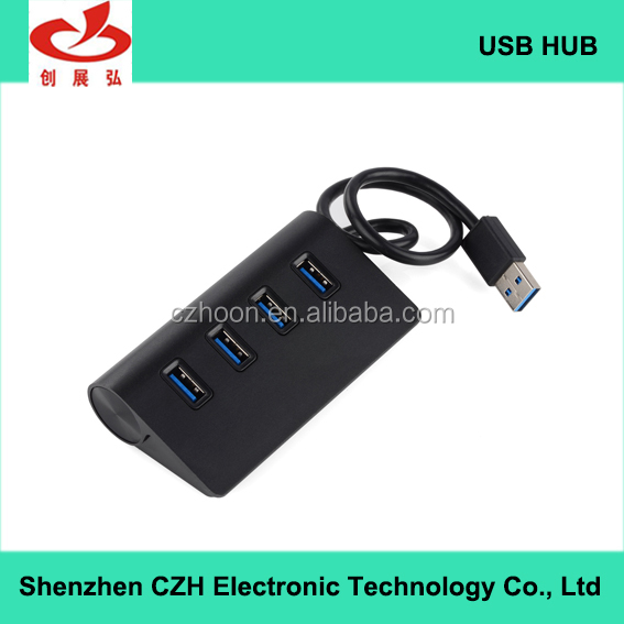 Hot selling aluminum alloy driver download 4 port 3.0 usb hub high speed for Macbook Pro Mac, Pc and Laptop