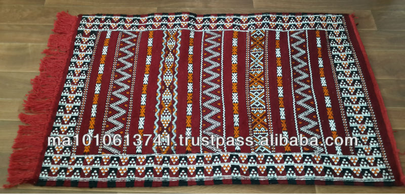 Small Hand woven berber Kilim rug made in Morocco 135cm x 75cm