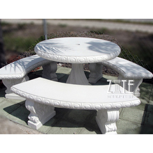 Hot sale garden stone table and chairs