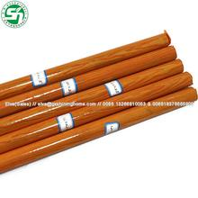 Hot sale 1200x22mm Pvc coated wooden broom/mop/dustpan/brush handle/stick/rod/pole with American Thread