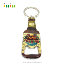 Hot selling Beer bottle opener key chain with custom printed logo and epoxy