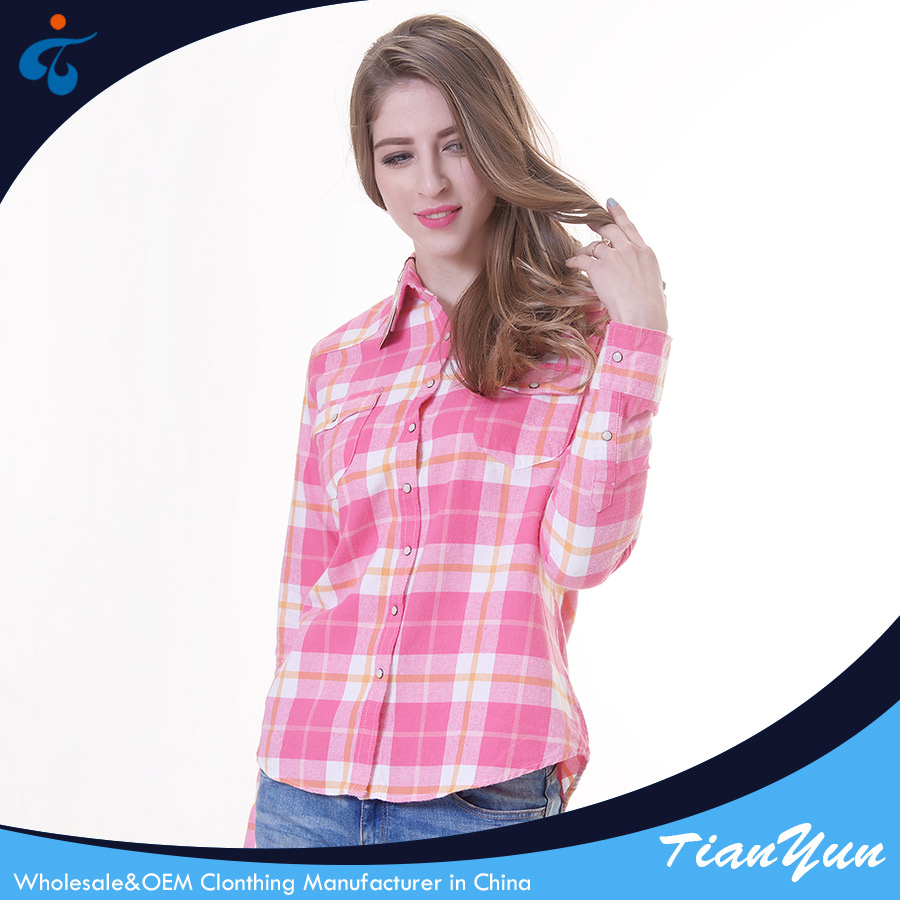 Modern design custom made nice eco-friendly classic ladies blouses