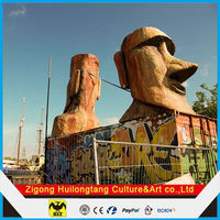 The statue of Moai outdoor decoration