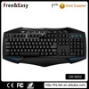 Customised brands blue color light multimedia gaming keyboard