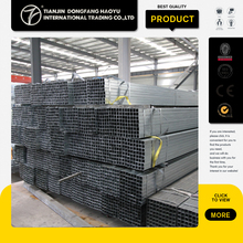 ASTM A106 Steel Pipe Building Material Made In China Q195 MS Hollow Section Pre Galvanizedsteel Square Pipe
