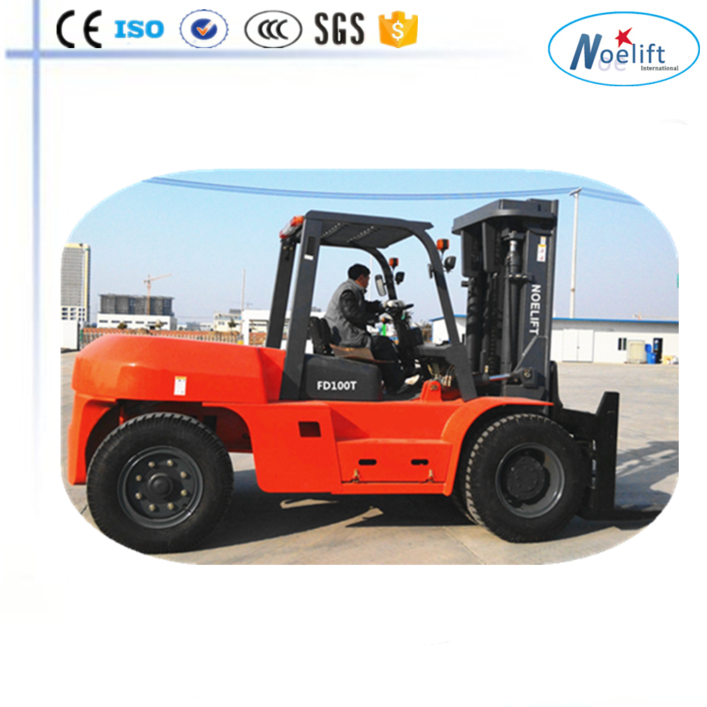 concrete mixer truck hydraulic pump 10T forklift with good oil filter Easy maintenance diesel forklift 10t trucks for sale with