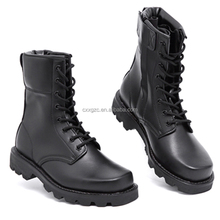 Genuine Leather Military Police Boot Army Combat Tactical Boots