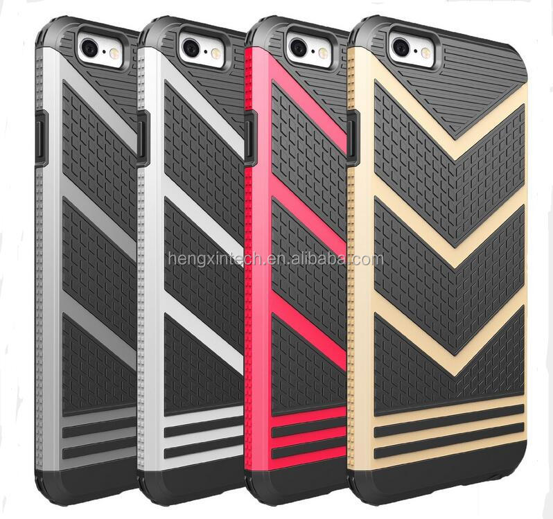 HIgh Quality 2 in 1 TPU+PC V Shaped Armor Phone Case For iPhone6s 6s Plus SE 5 5S Phone Back Cover For Iphone 6 6plus Shell Capa