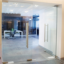 CE Approved Aluminum Frameless Office 8Mm Pivot Front Door,Swing Door /Casement Glass Entry Doors