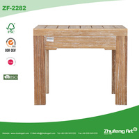 Factory Direct Cheap Vintage Reclaimed Solid Wooden Square Dining Table in Latest Design