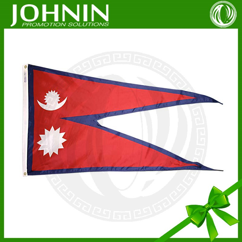advertising materials 100% polyester nepal flag