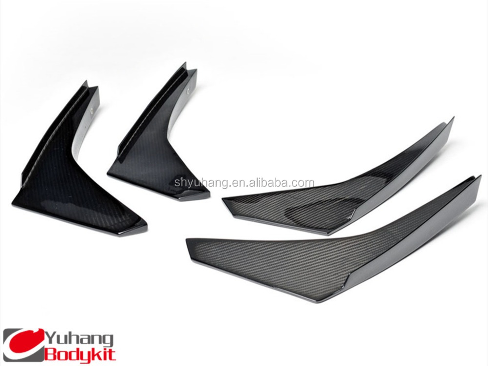 For R35 GTR PAW JDM Style Carbon Fiber Front Bumper Canard