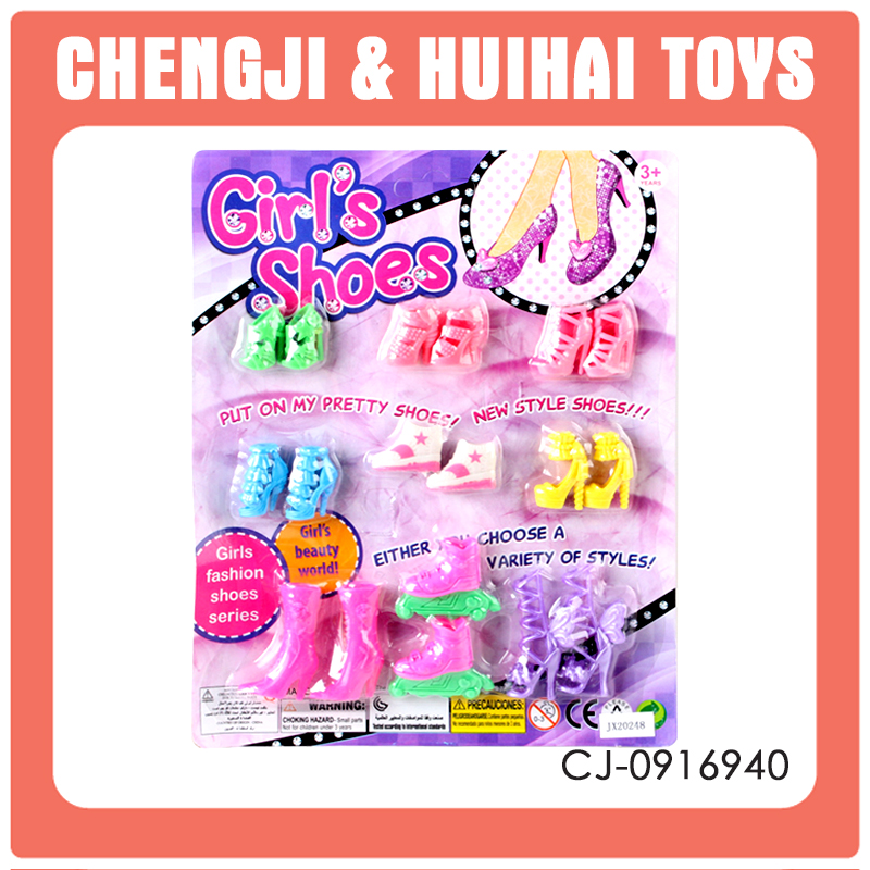 mini fashion shoes for girls doll plastic toy dolls accessories doll shoes wholesale