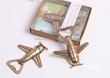 "Wedding Supplies ""Let the Adventure Begin"" Airplane Bottle Opener"