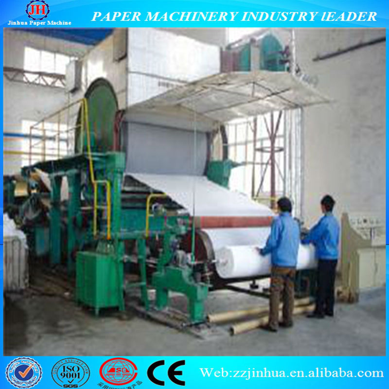 Best price single-cylinder and single-wire 1880mm toilet/tissue/facial napkin paper machine to recycle