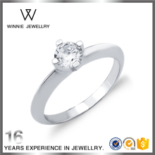 Fashion New design Sterling Silver CZ jewellery Fancy Ring For Ladies Single Crystal Ring RC0526202800