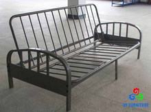 Deluxe steel tube design folding futon sofa cum bed frame with footboard
