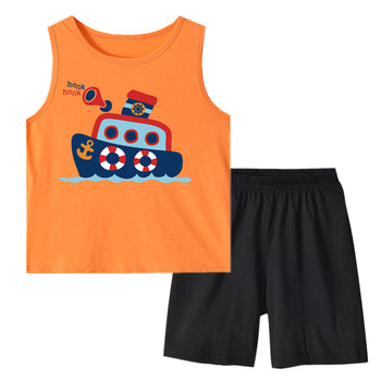 Baby Boy Clothing Set 2019 New Summer boys Vest and Shorts Clothes Overalls 2PCS Sets