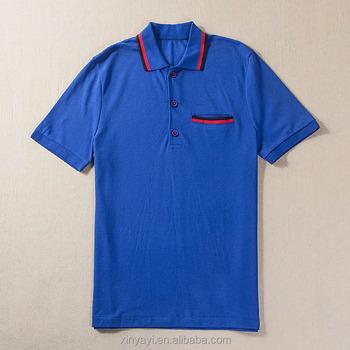 Men Polo Collar T Shirt Cvc Pique Knitted Fabric For Polo