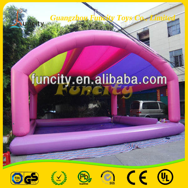 Newest useful material cheap inflatable sunshine pool
