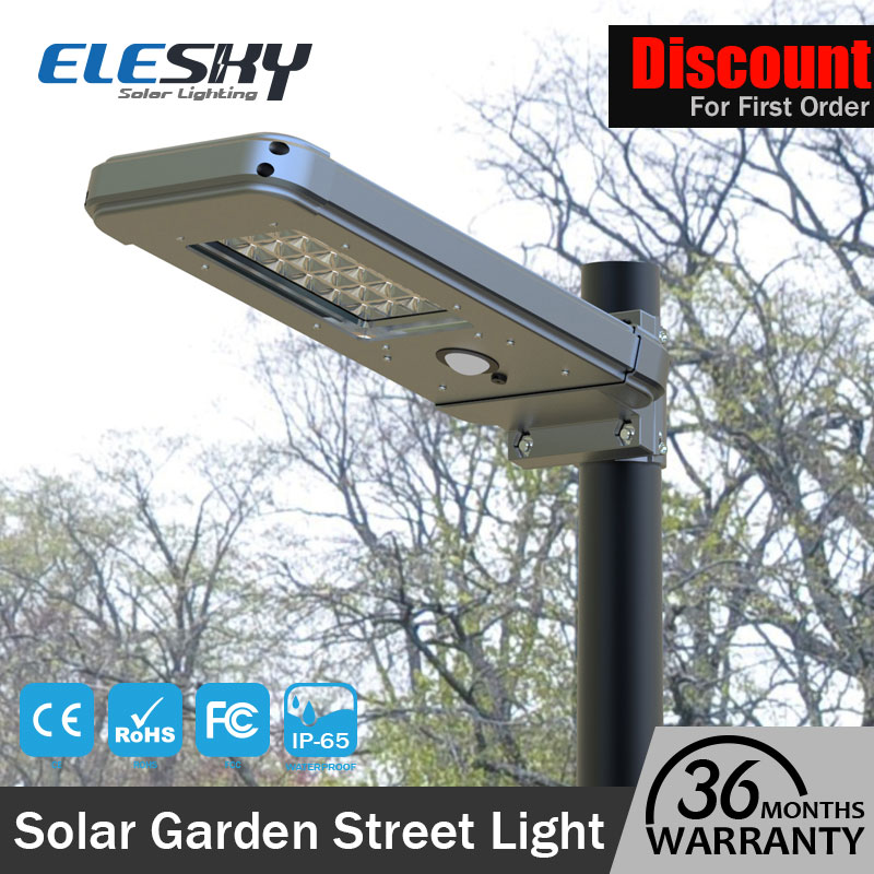 2017 Good quality with PIR sensor street solar ligths