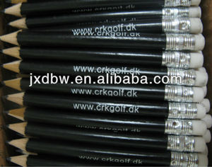 Custom Logo Black Colour Wood Golf Tee Pencils