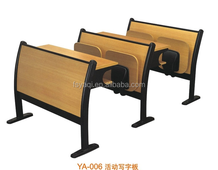 Commercial metal steel wood school chair and desk YA-006