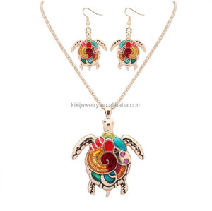 Personalized Jewelry Colorful Tortoise Shell Earrings Jewellery Pendant Necklaces