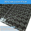 CARLIKE 3D Lens Car Wrap Vinyl Dark Black Headlight Tail Film