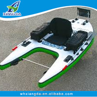 China Factory High Quality Korean Mini Fly Fishing Boat Small Pontoon Boat Inflatable belly boat