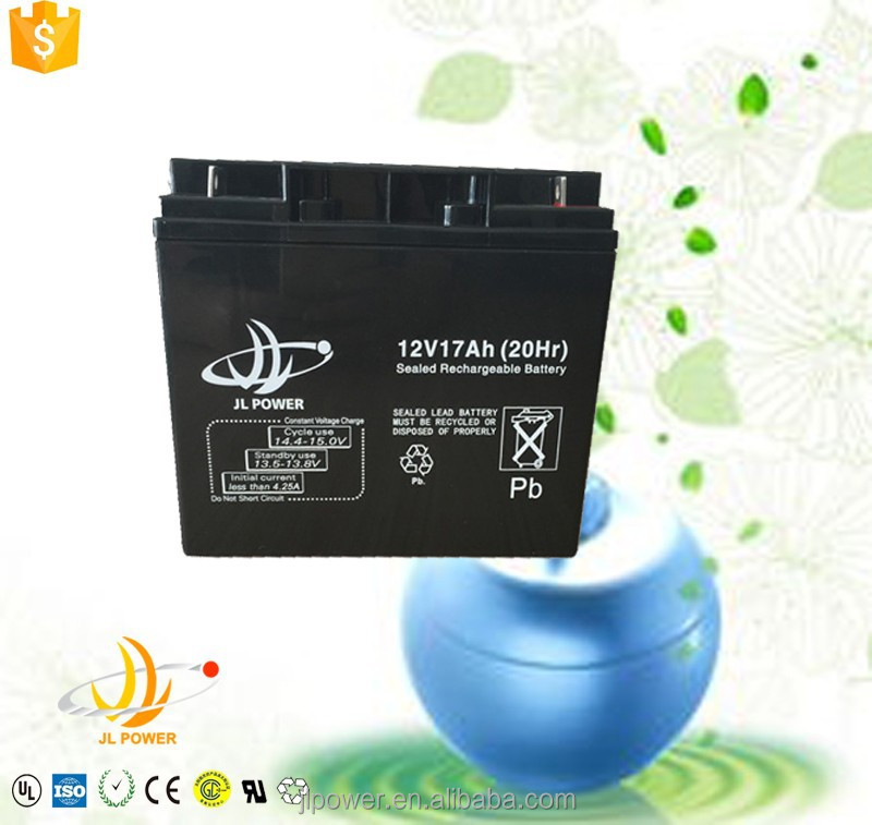 12v 17ah sealed lead acid battery SLA rechargeable solar led lignt battery