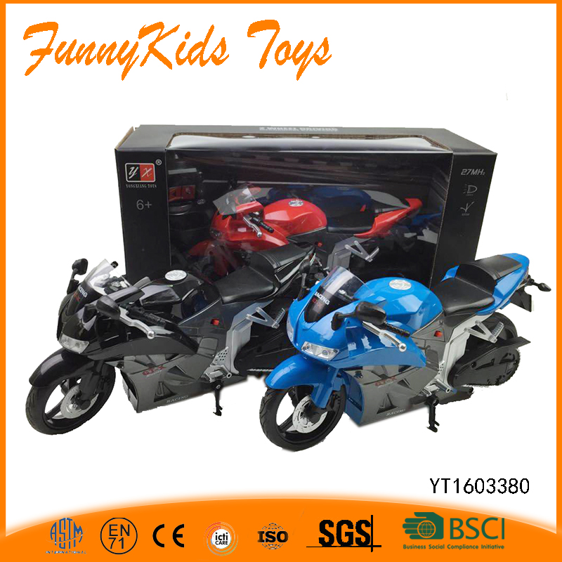 27MHz 2ch 1:18 scale rc motorcycle for sale