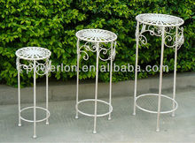 Decorative Garden Roud Plant Stand Set