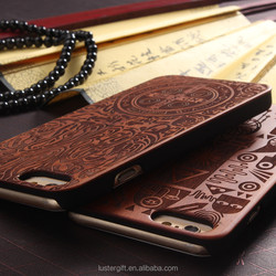 2016 Original Newest Wood Carving Case For iPhone se 5S 6 6S Plus Carved Wood Cell Phone Case Wholesale