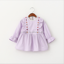 Z10662B Lace neck embroidered baby dress new style frock design