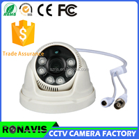 Security ahd dome 1080p mini ahd cctv camera night vision cctv camera with 6pcs array led