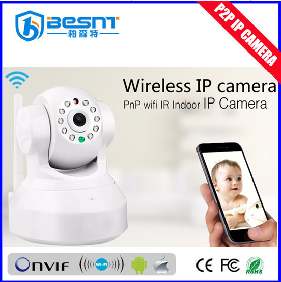 Hot 1.0MP CMOS Sensor ptz p2p wifi ip camera Motion Image Resolution night vision real time recording BS-IP04