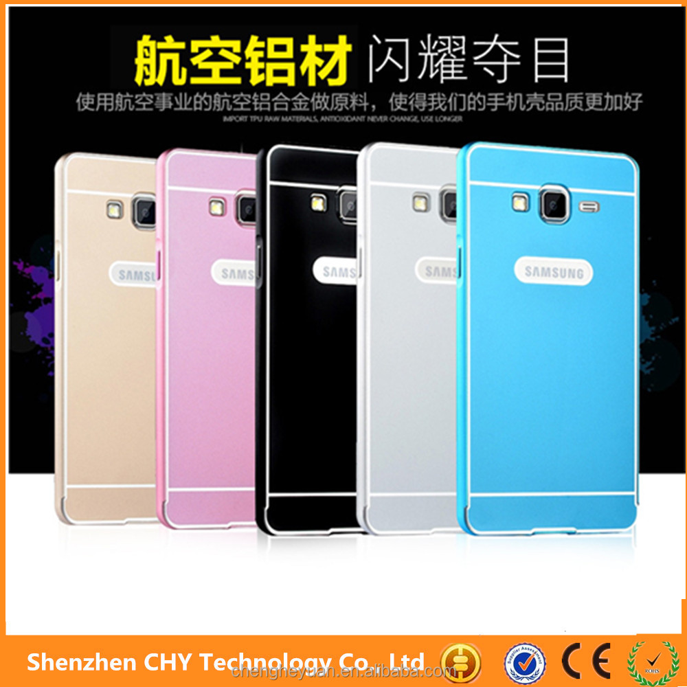 alibaba express Aluminum metal bumper acrylic plastic back cover case for samsung galaxy on7
