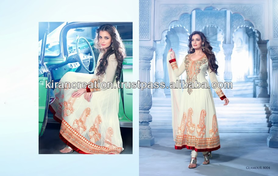 White color gota work salwar