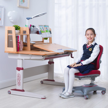 Kids furniture Desk Height Adjustable Children table and chair set
