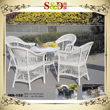SD 2016 Garden cheap used fast food restaurant table and chair resin wicker patio
