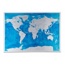 2017 wholesale blue scratch Map Deluxe Edition Personalised World Map